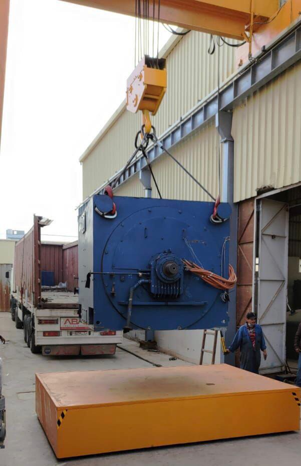 Process of receiving 6 Mega Watt Induction Motor in our factory at Belbes City.